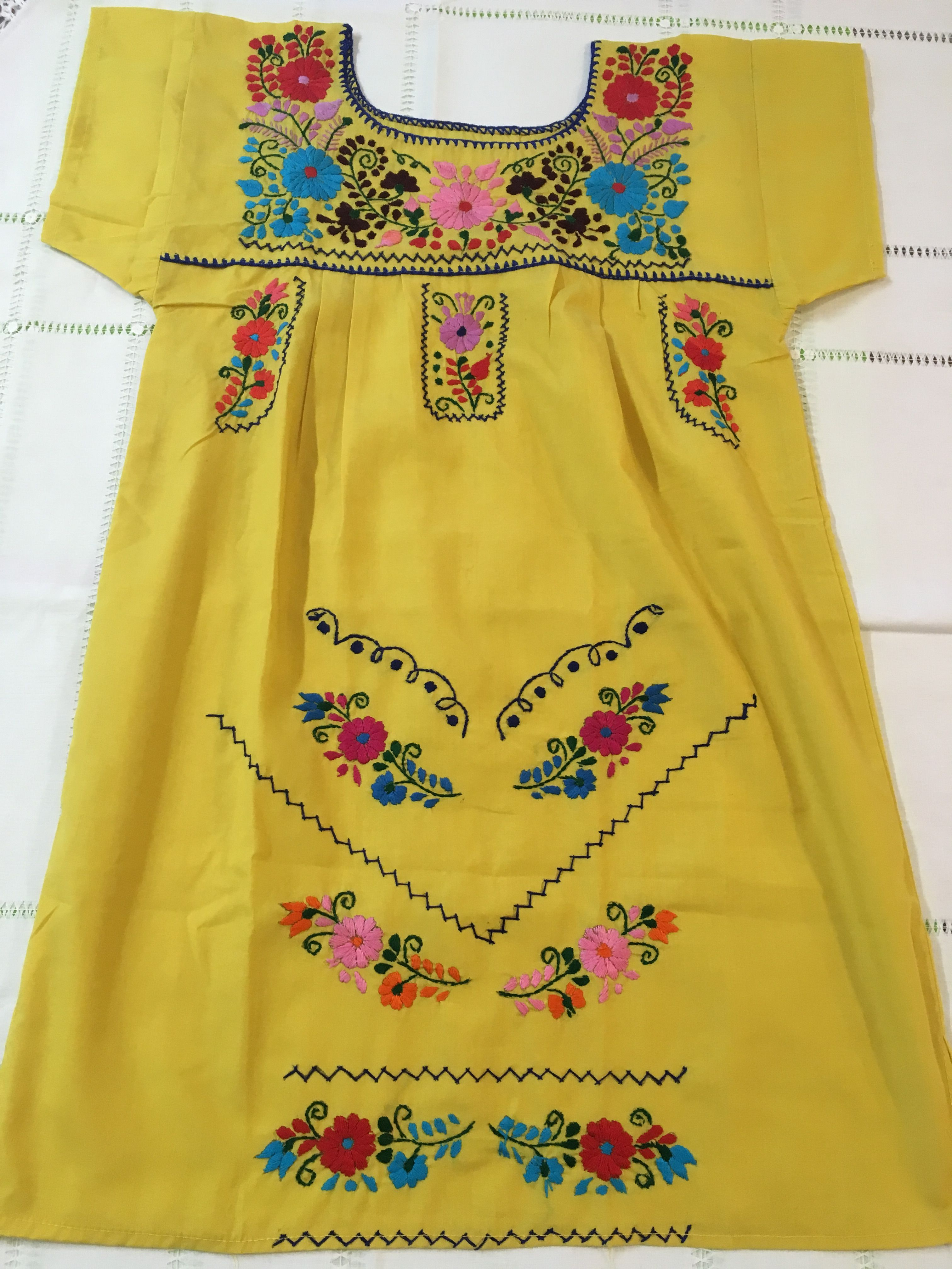 Gorgeous Handmade Mexican Dress Mexican Dresses Dresses Red Embroidery [ 4032 x 3024 Pixel ]