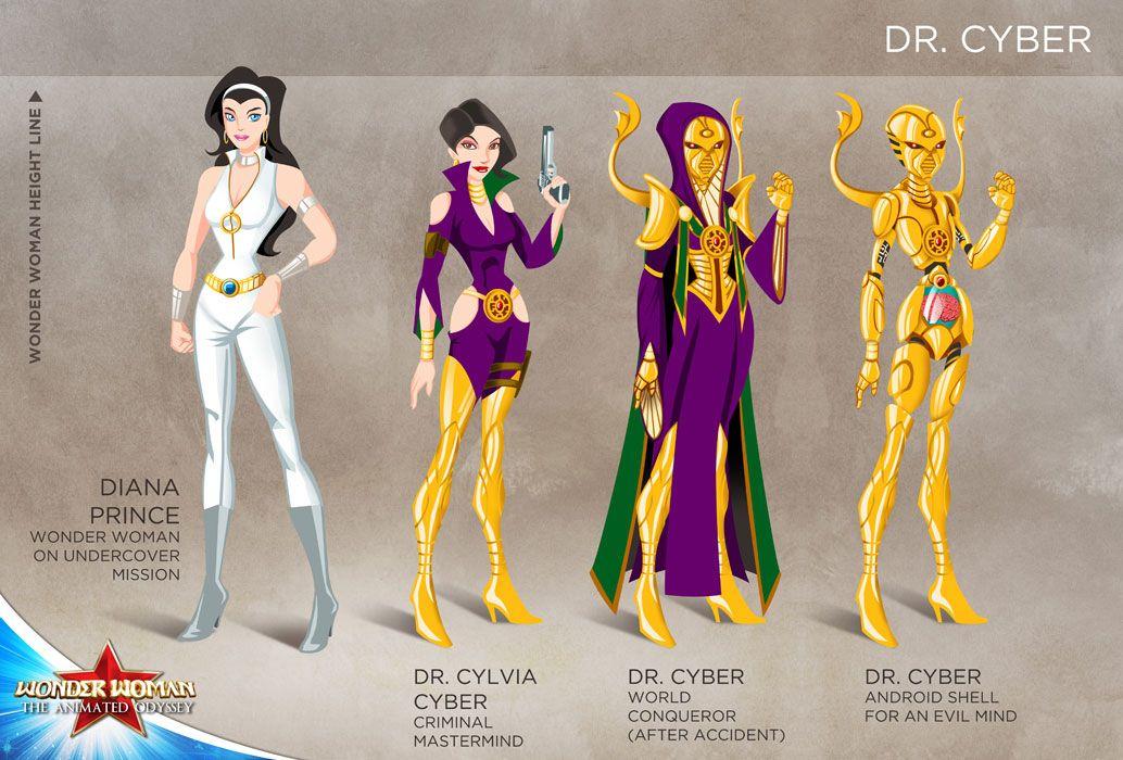 Wonder Woman Cartoon Show: Dr Cyber by tremary.deviantart.com on @DeviantArt