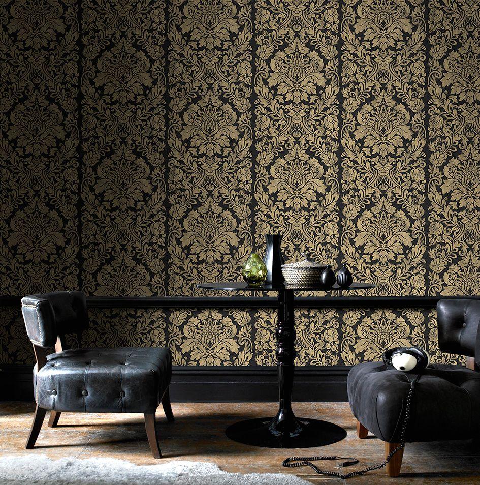 Metallic wallpaper for lowlit rooms Graham & Brown