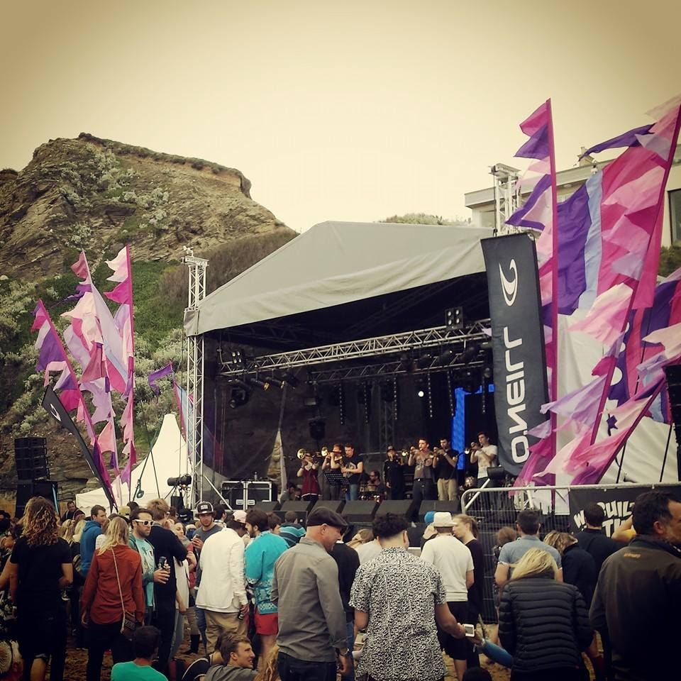 Renegade Brass Band at Electric Beach festival Watergate Bay