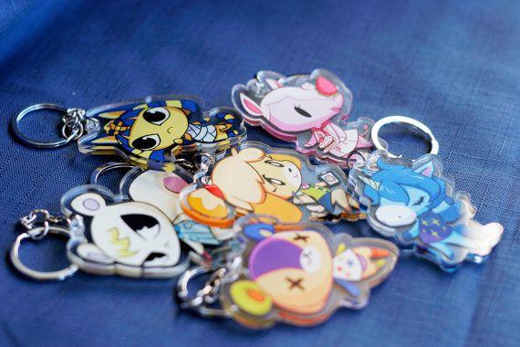 Animal Crossing Pascal and Charm Key Chain Anime Manga NEW