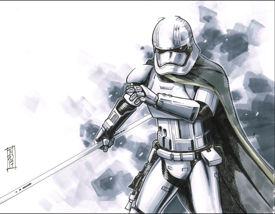 Captain Phasma By Hodges Art Deviantart Com On Deviantart Star Wars Images Star Wars Trooper Star Wars Fans