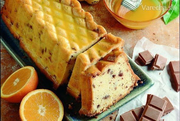 Pomarančovo-čokoládový chlebíček - Recept