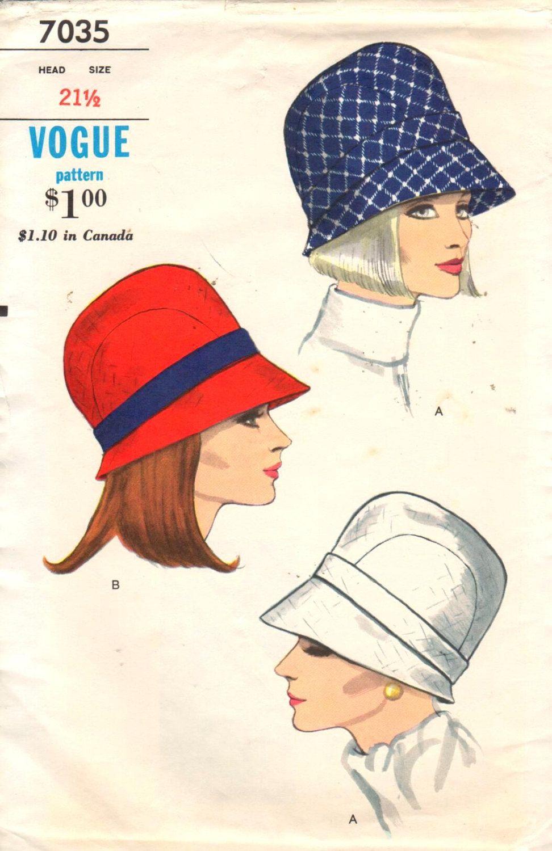 Vogue 7035 Sz 21.5 Head. Vintage 60s Ladies by EXTREMESEWINGDIVA
