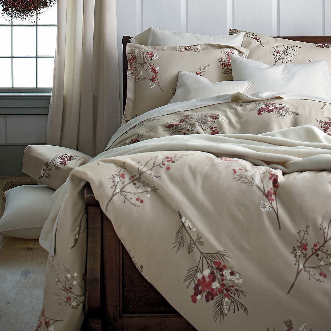 Pineberry Flannel Sheets & Bedding The Company Store