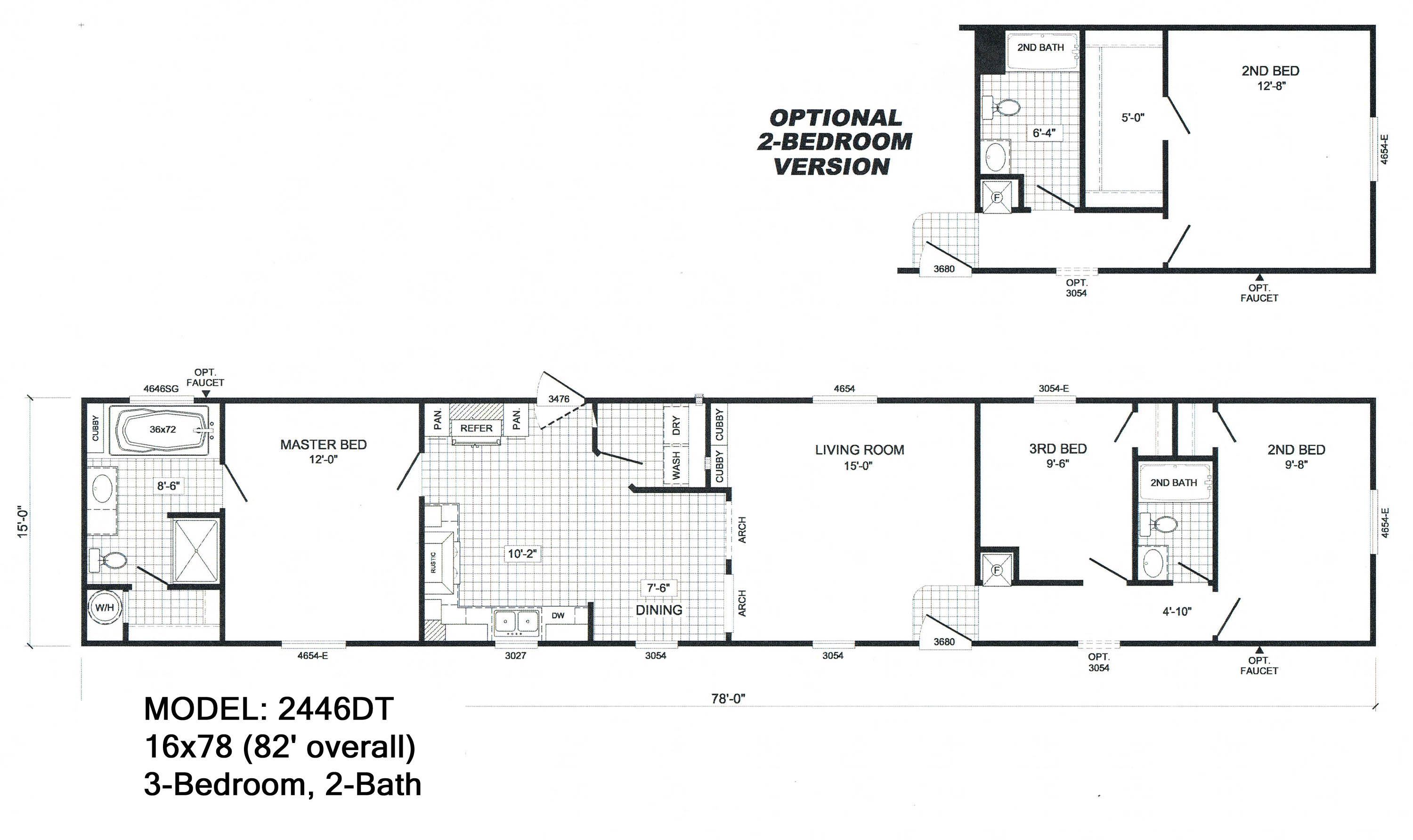 scotbilt mobile home floor plans singelwide 16 x 84 3 br 2ba [ 3000 x 1784 Pixel ]