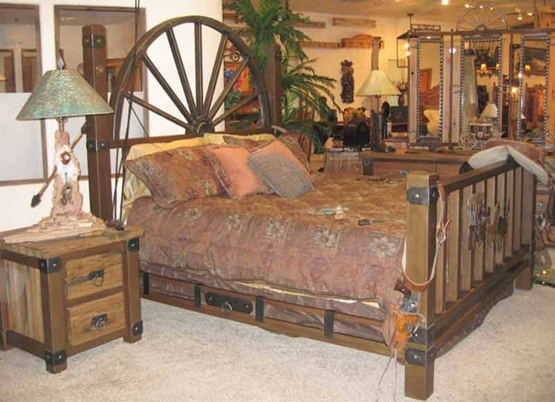 Gentil King Bed   Western Bed   Wheel Wagon Bed   SWB172