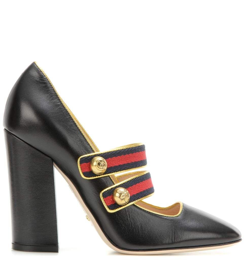 Black embellished pumps
