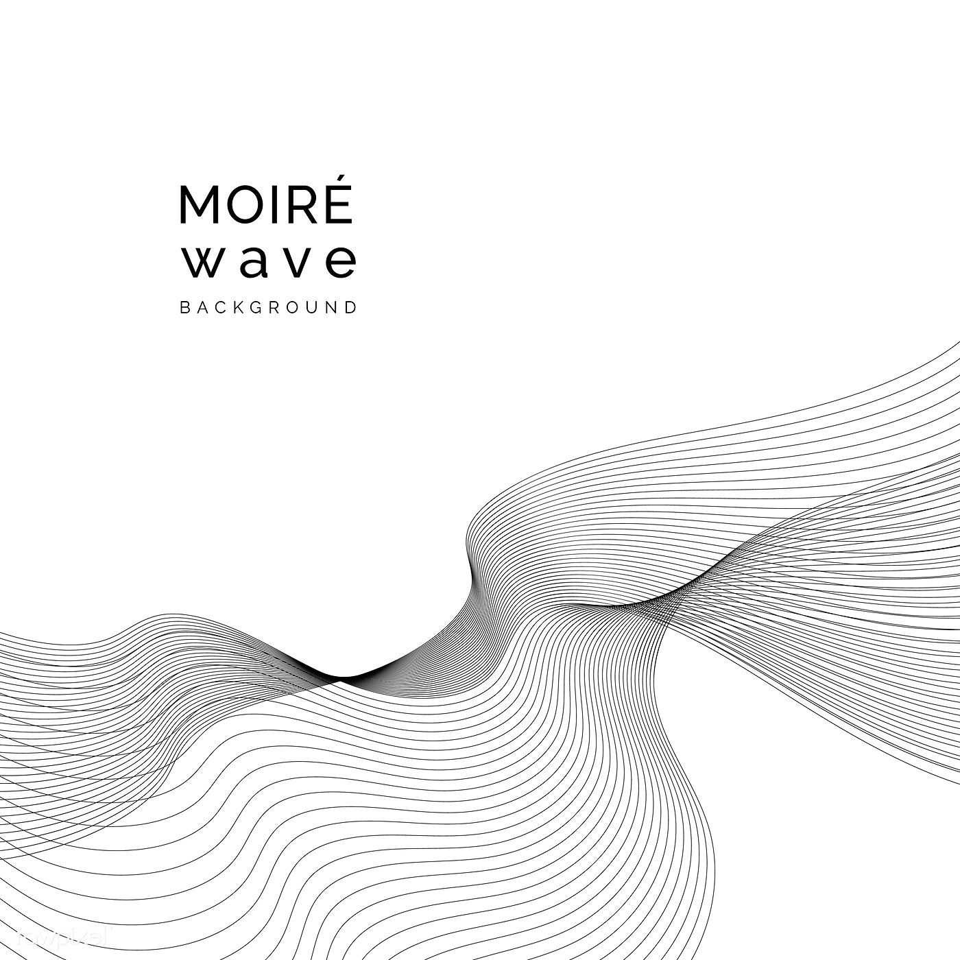 Black Moire Wave On White Background Free Image By Rawpixel Com