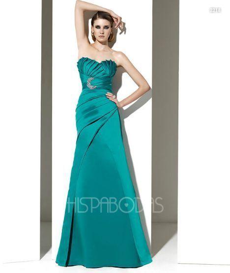 Vestidos de noche color azul tiffany