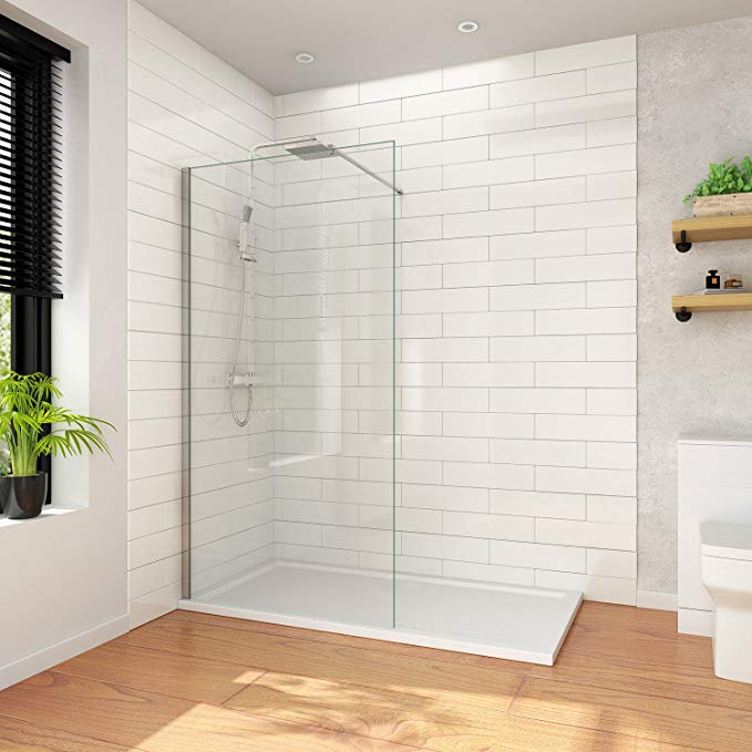 Elegant 700mm Wet Room Shower Enclosure Easy Clean Screen Panel With 700x1200mm Walk In Stone Stone Wet Room Shower Walk In Shower Enclosures Shower Enclosure