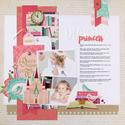Once Upon A Time Princess Layout Startingascrapbook Starting A