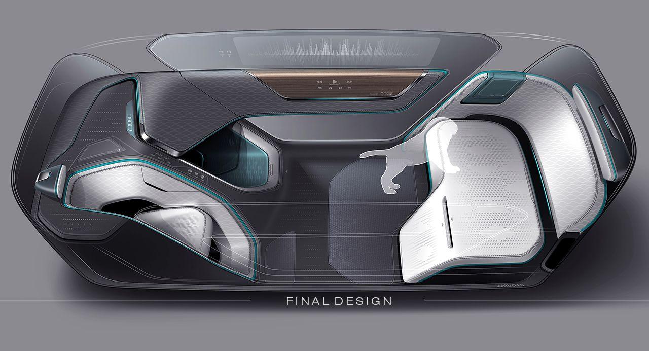 Autonomous Interior Concept For Pet Transportation Sketches