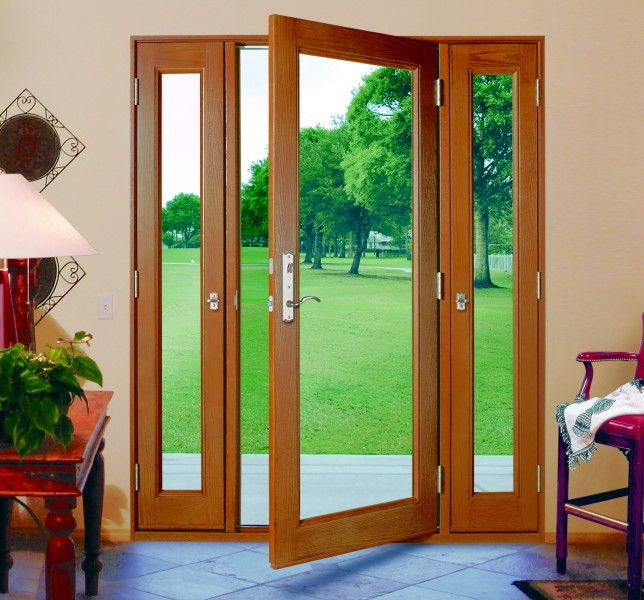 Milgard ultra french door with operable sidelights for Full glass patio door