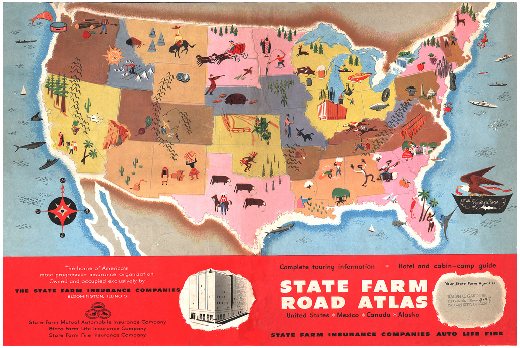 State Farm Road Atlas Americana Pinterest