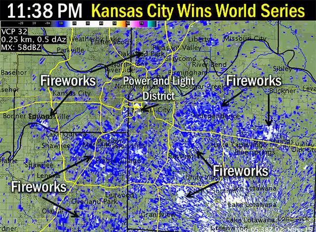 Kansas City S Massive World Series Celebration Lit Up The National Weather Service S Radar Kansas City Kansas City Royals Kansas City Royals Baseball