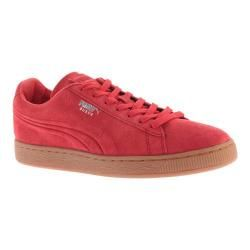 Men's PUMA Suede Emboss Sneaker High Risk Red/Gum