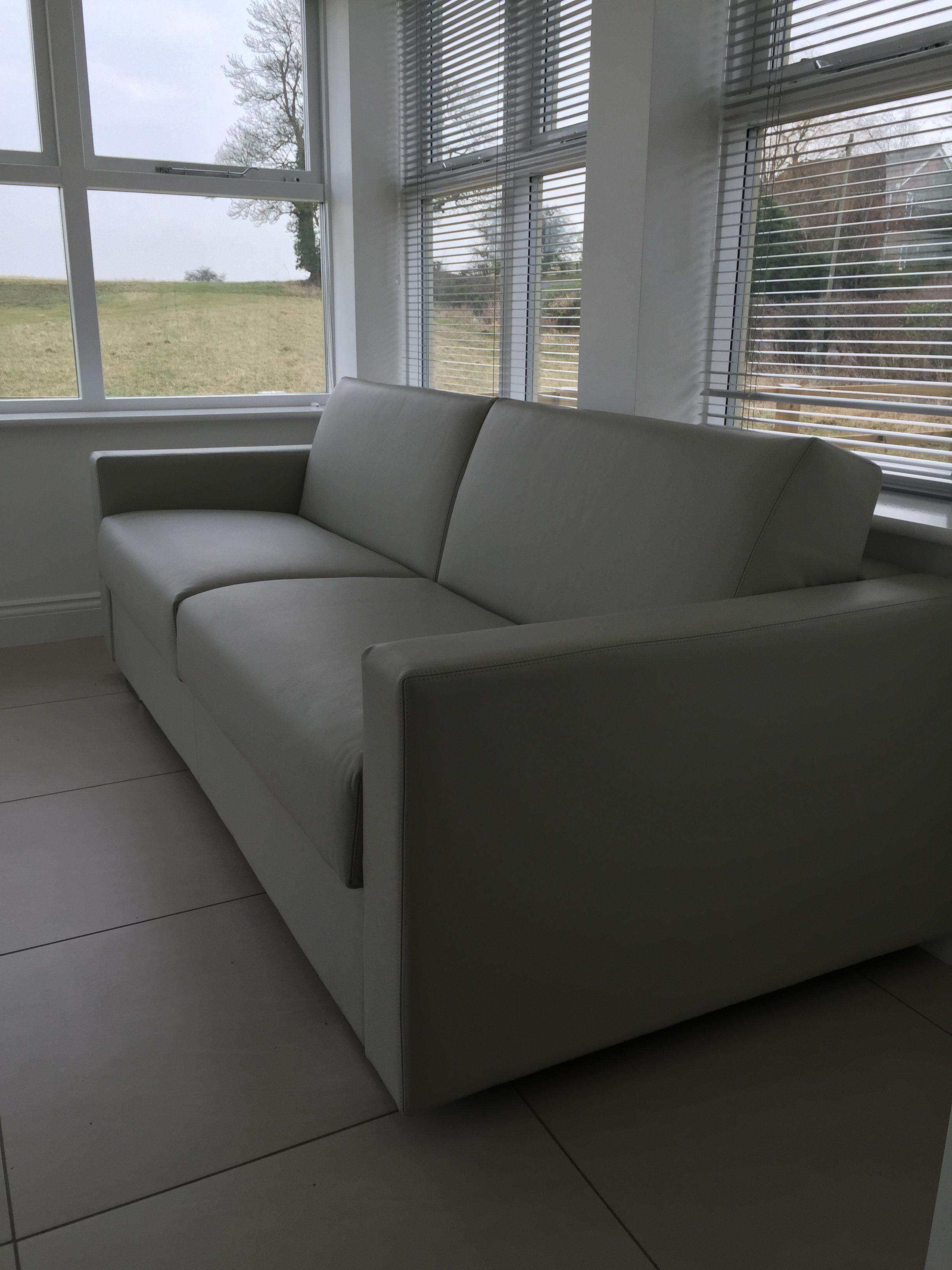 Lario Italian Sofa Bed In Dalmata Leather Italian Sofa Sofa Luxury Sofa Bed