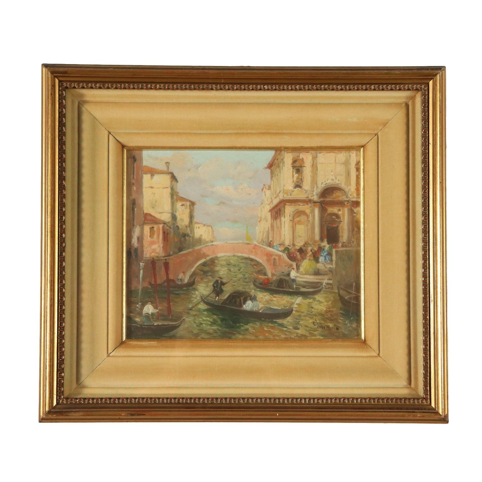 Photo of View of Venice from Ettore Solvegni 19th century painting