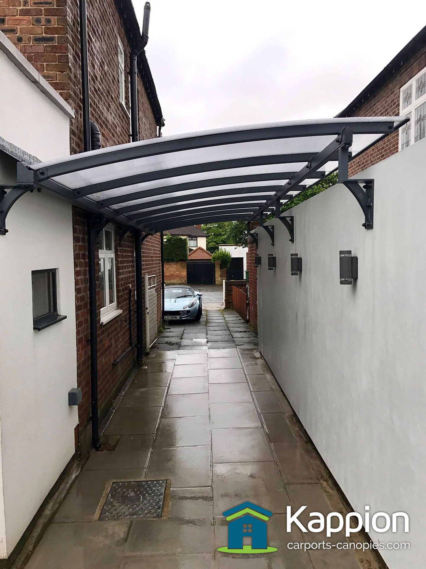 Driveway and Bungalow Carports Custom designed and manufactured