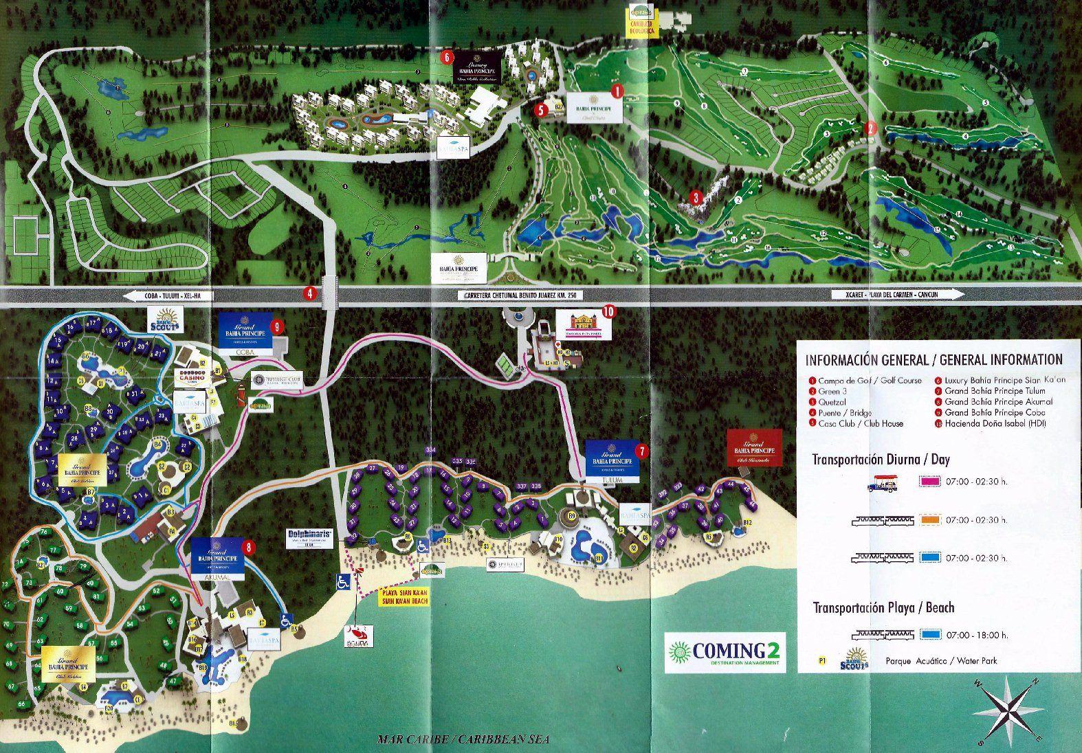 Resort Map | Luxury Bahia Principe Sian Ka\'an | Riviera Maya ...