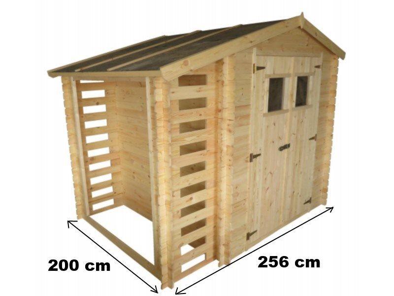 Casette da giardino casetta in legno con legnaia for Casette in legno obi