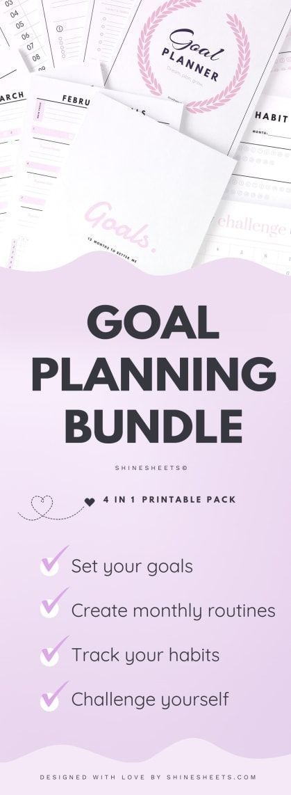 Goal Planning & Setting Bundle / 23 #fitness #fitnessplanner