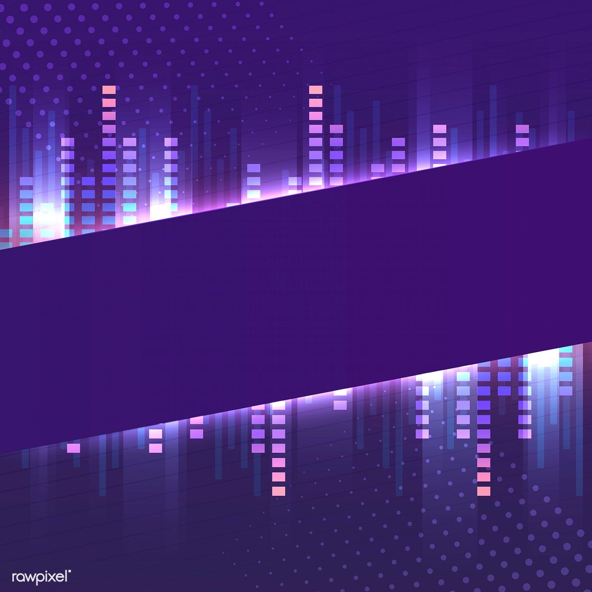 Blank violet banner neon signboard vector free image by