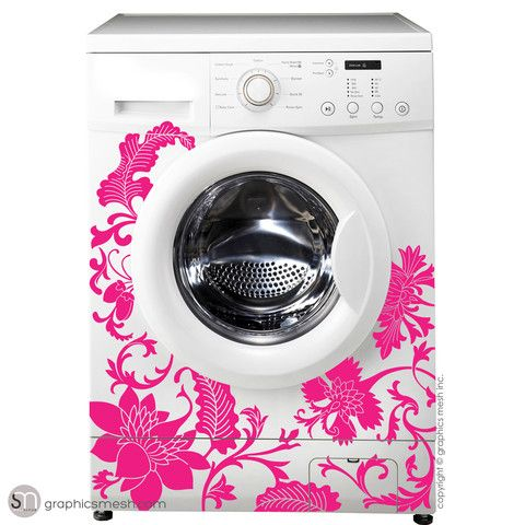 Floral Washer Decor Domesticated Wall Decals For The