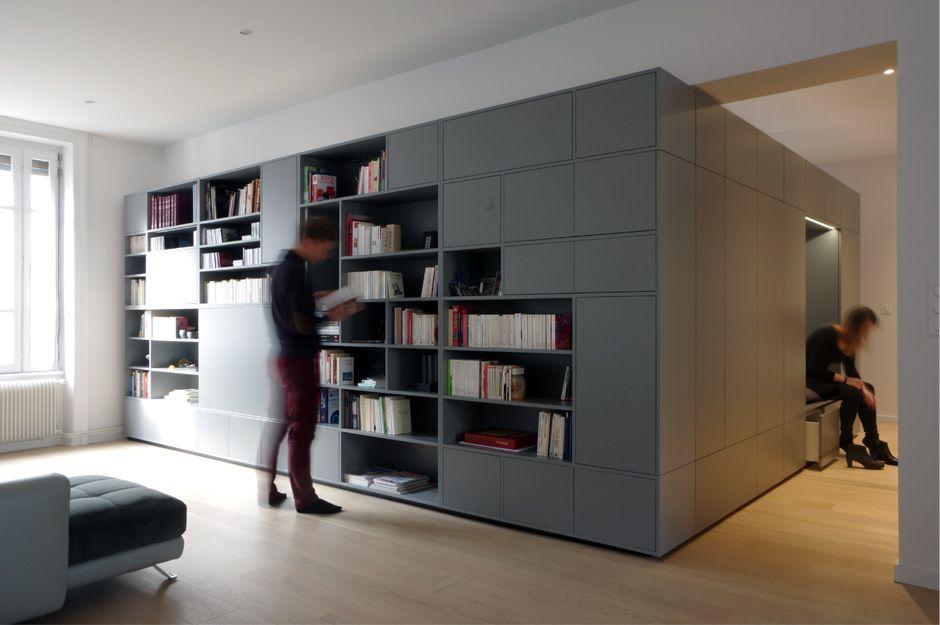 Rénovation d\u0027un appartement contemporain à lyon avec un meuble