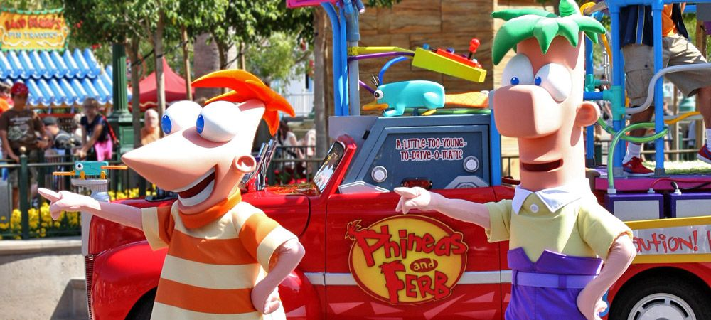 Phineas and Ferb Rockin' Rollin' Dance Party ~ Day 22! Image ©Disney Parks