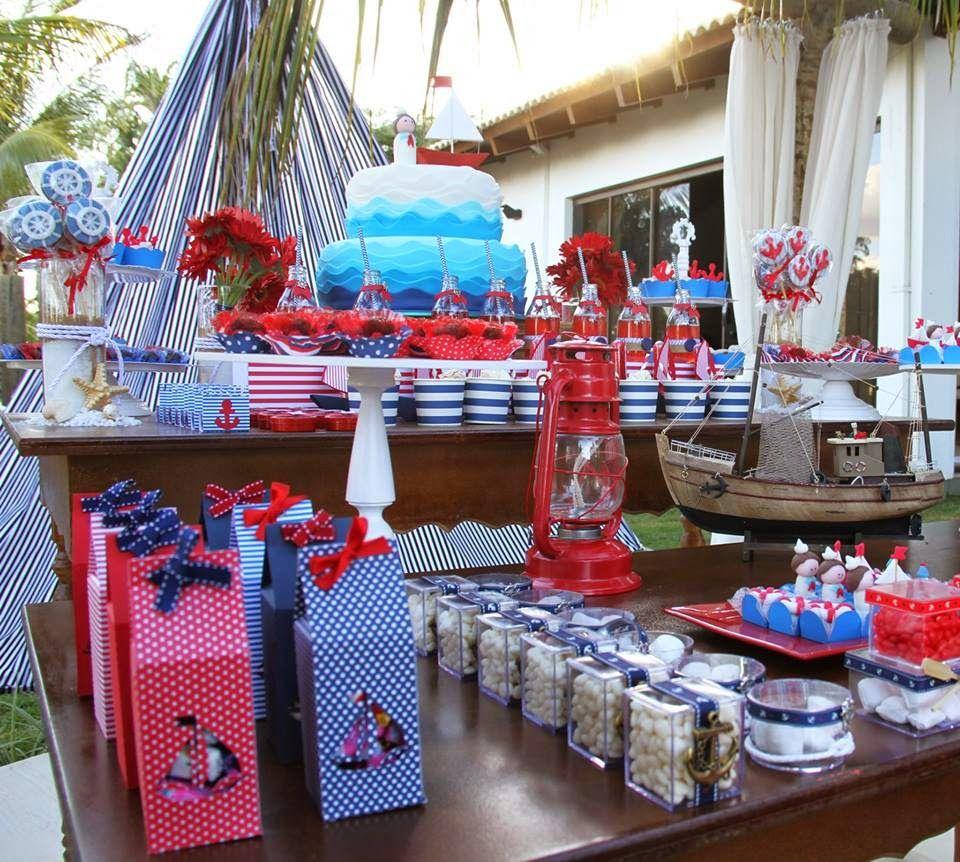 Imagens mesas festa marinheiro google search ch de for Decoracion nautica infantil
