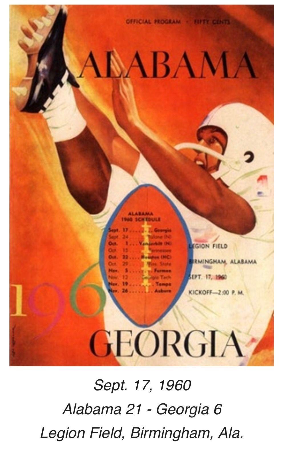 Historic Alabama Game Programs from RollBamaRoll.com #Alabama ...
