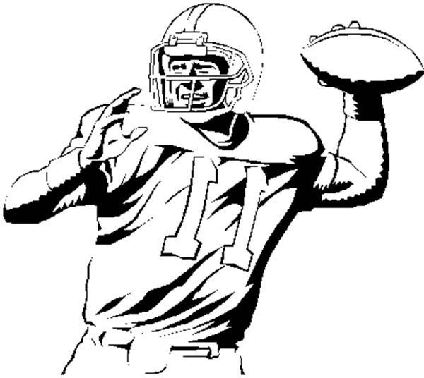 nfl football player throw nfl player throwing ball