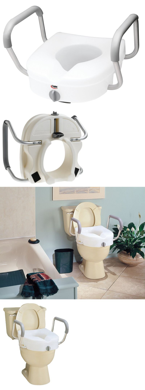 Standard toilet seat dimensions  Toilet Seats Carex EZ Lock Raised Toilet Seat With Arms BUY IT NOW