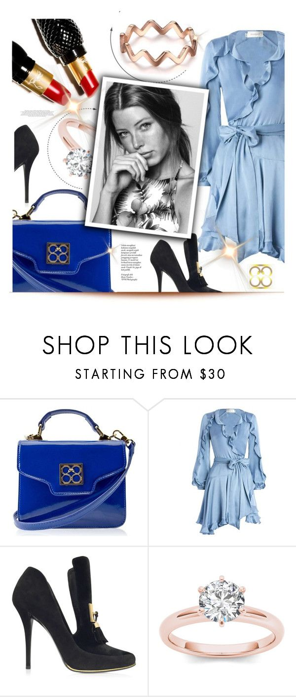 """""""1168"""" by melanie-avni ❤ liked on Polyvore featuring Handle, Zimmermann, Balmain, Christian Louboutin and Champion"""