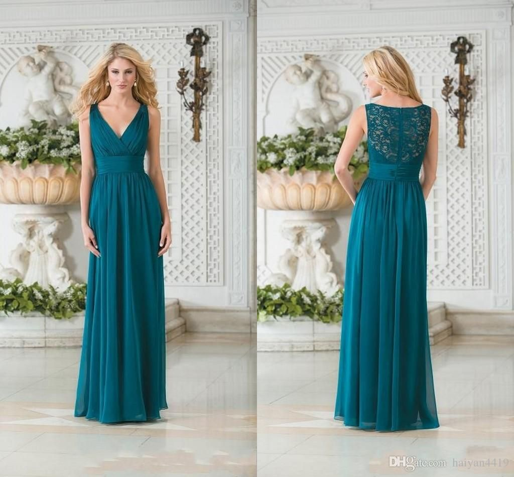 2017 new cheap sexy teal green bridesmaid dresses v neck lace 2017 new cheap sexy teal green bridesmaid dresses v neck lace chiffon long summer beach for ombrellifo Images