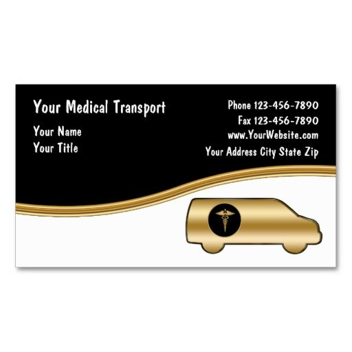 Medical Transport Business Cards This is a fully customizable - medical business card templates