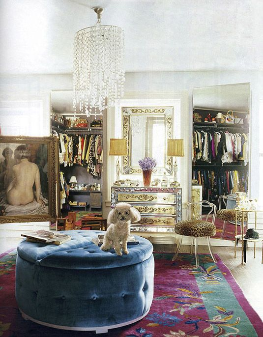 Luxe dressing room
