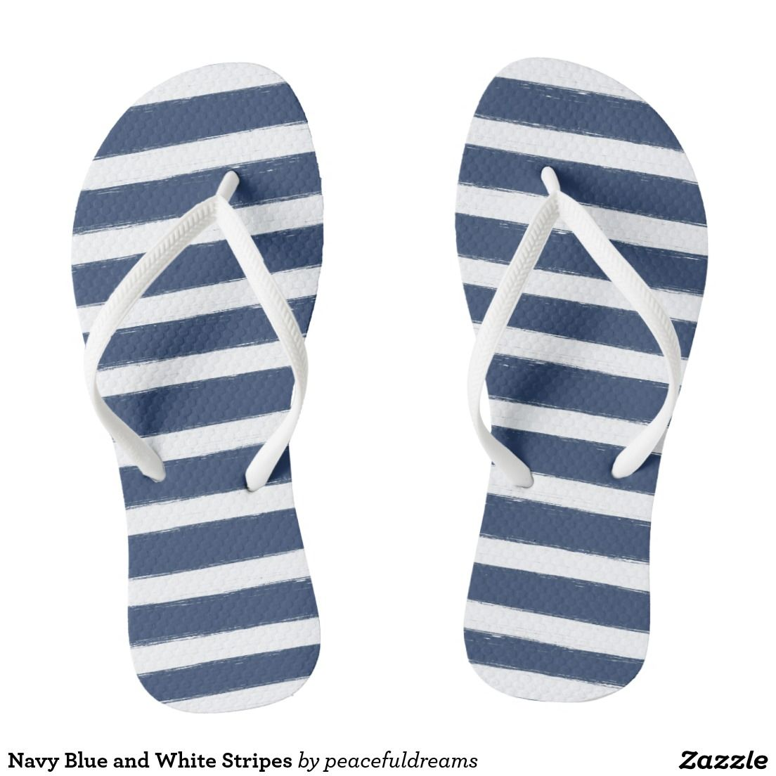 Navy Blue and White Stripes   Blue and