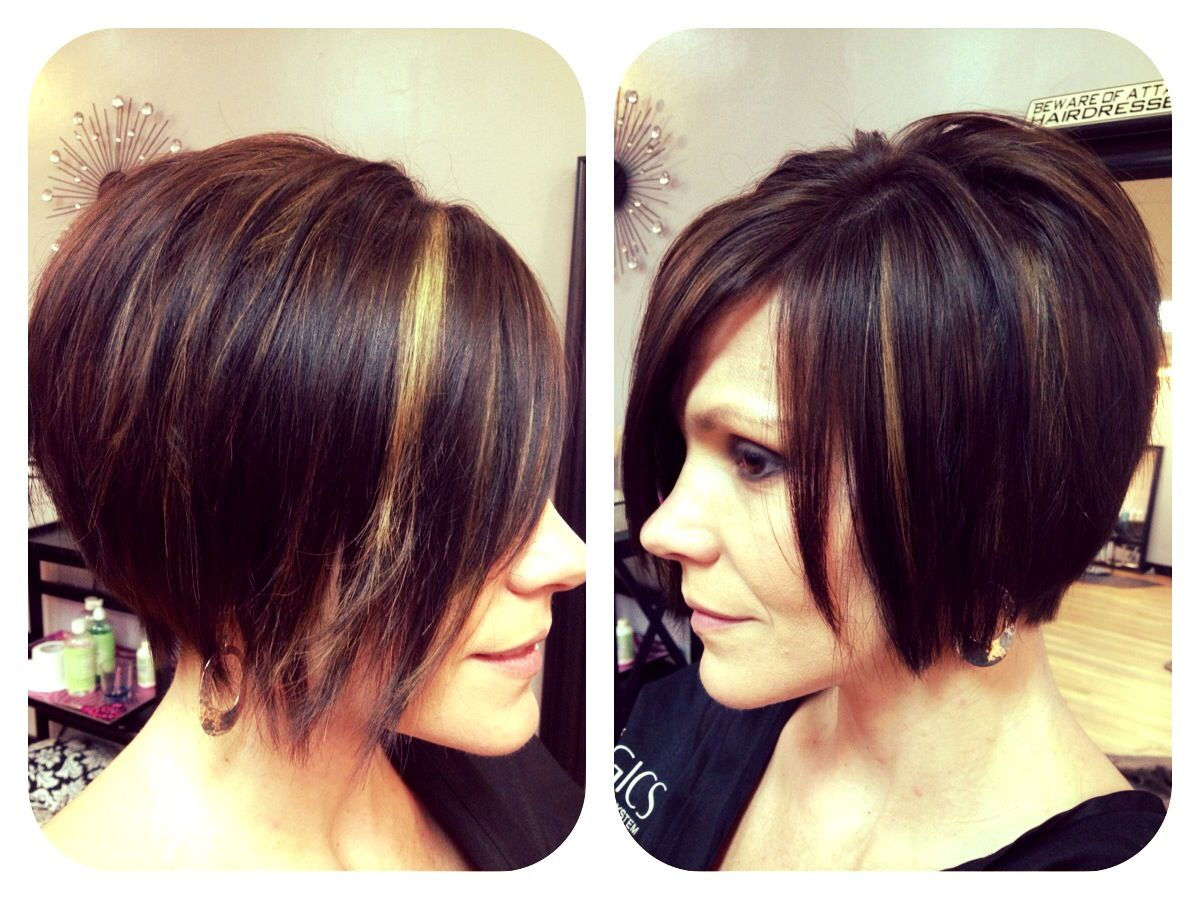 Peekaboo Hair Styles: Chin Length Textured Bob With Shattered Ends