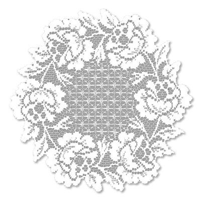 Heritage Lace Cottage Rose Round Doily Accessory Set Of 2 Color White