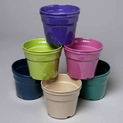 Bamboo Fiber Planters 2 Pack Biodegradable 6 Assorted Colors
