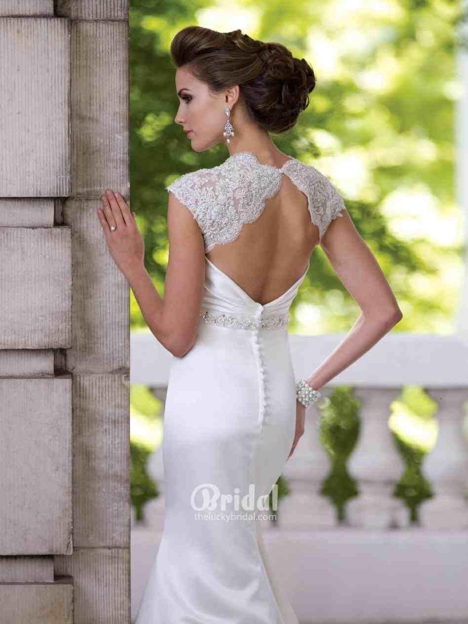 Lace wedding dress open back weddings pinterest lace weddings
