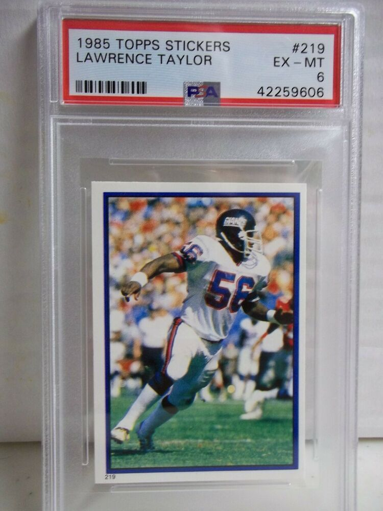 1985 topps stickers lawrence taylor psa exmt 6 football