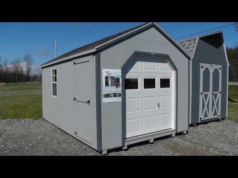 10' X 16' Portable Garage Shed | ATV and Motorcycle ...