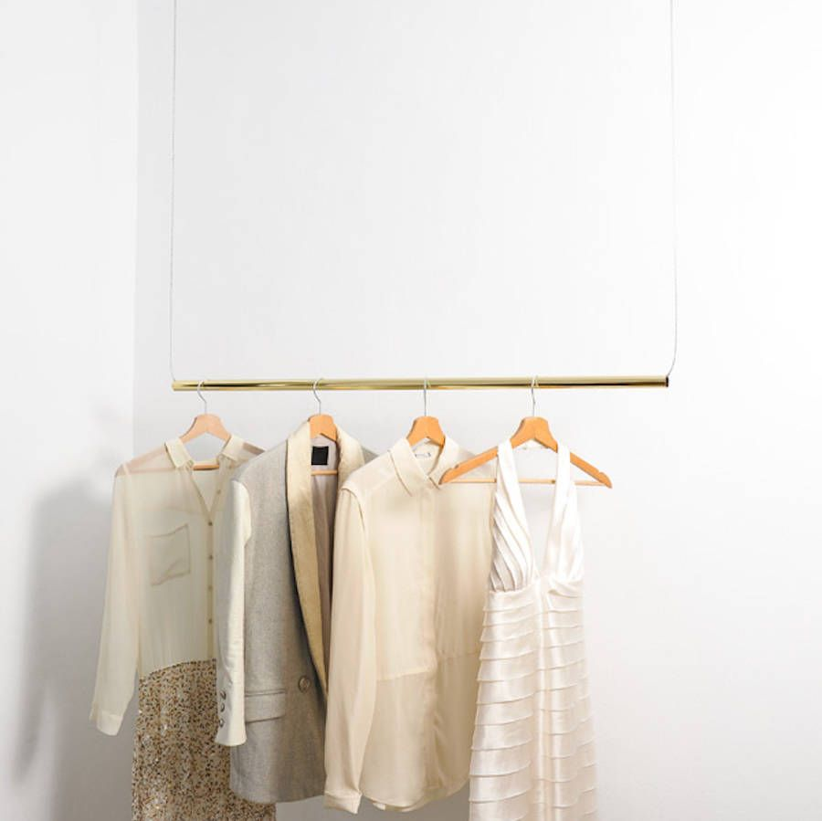 Brass Hanging Clothes Rail | Hanging Clothes Hanging Clothes Racks And Clothes Racks