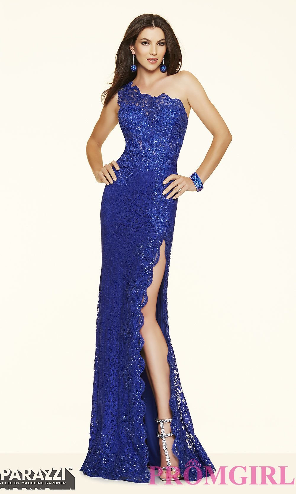 a01e1222ae0 Image of One Shoulder Lace Evening Gown Mori Lee Style  ML-97112 Detail  Image 1