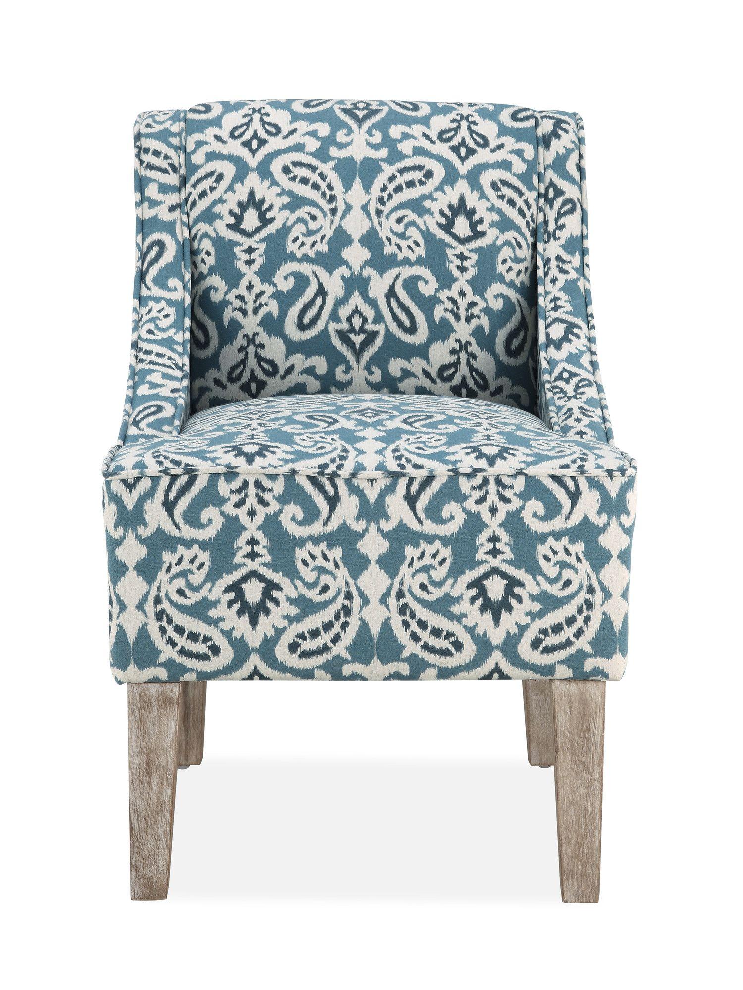 Best Prescott Slipper Chair In Teal Ii Wayfair Accent 400 x 300