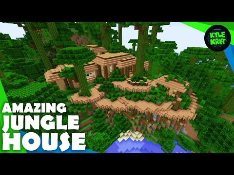 Minecraft How To Build A JUNGLE House YouTube Mine Your - Group guys build epic treehouse gaming